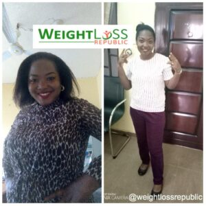 Nigerian weightloss. Before and after. Sustainable Nigerian Weightloss